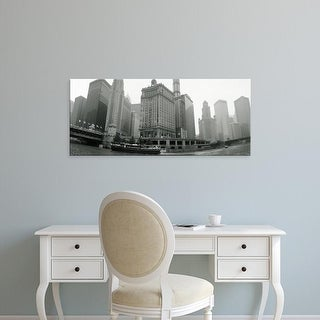Easy Art Prints Panoramic Images's 'Low angle view of buildings on the waterfront, Chicago, Illinois, USA' Canvas Art