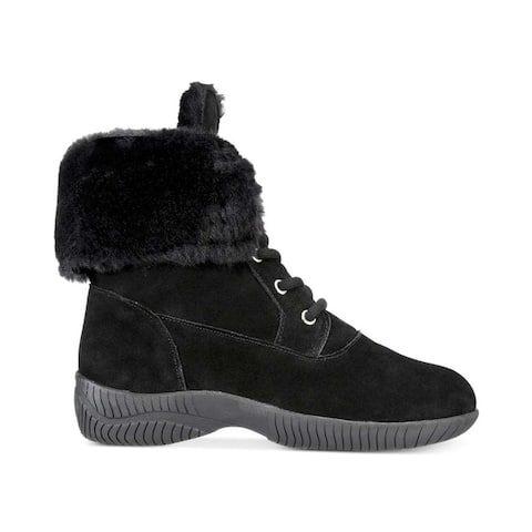 Style & Co. Womens Angiee Leather Round Toe Mid-Calf Cold Weather Boots