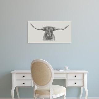 Easy Art Prints Ethan Harper's 'Longhorn Bull' Premium Canvas Art