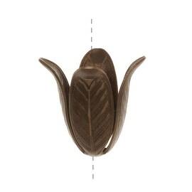 Vintaj Natural Brass 18mm Magnolia Leaf Bead Cap (1)