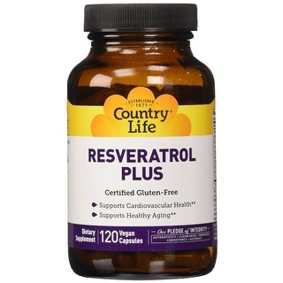 Country Life Resveratrol Plus - 120 Vegeterian Capsules