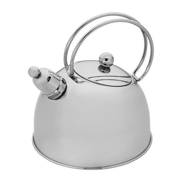 Demeyere Resto 2.6-qt Stainless Steel Whistling Tea Kettle - Stainless Steel