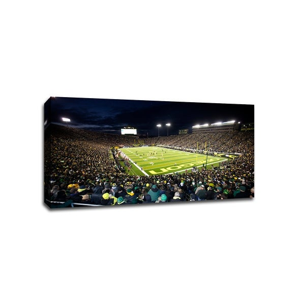 Oregon Ducks - CollegeFootball - 40x22 Gallery Wrapped Canvas Wall Art