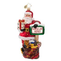 Christopher Radko Glass Santa Land Christmas Ornament #1016880 - RED