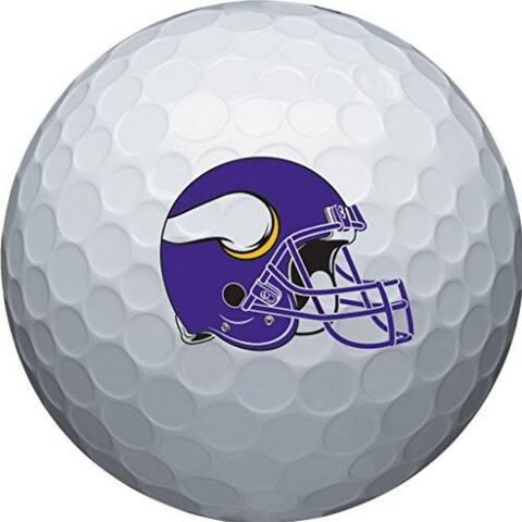 Wilson NFL Minnesota Vikings Golf Balls Team Logo Wilson Ultra 500, 6 Pack - One Size