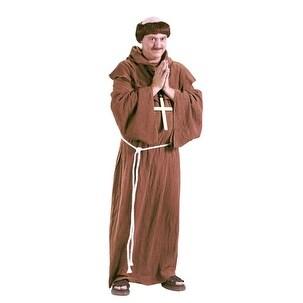 Medieval Monk Halloween Renaissance Religious Costume - standard - one size