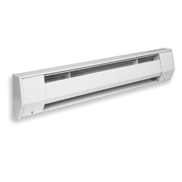 King 6K1215BW 1500W 120V 6' Baseboard Heater - White