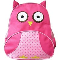 Kreative Kids Girls Pink Dotted Owl 3D Animal Side Mesh Pockets Backpack - One size