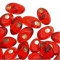 Miyuki Long Magatama Seed Beads 4x7mm - Silver Lined Flame (8.5 Grams) - Thumbnail 0