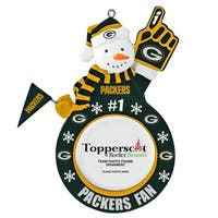 Green Bay Packers Snowman Picture Frame Ornament