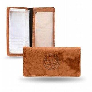 RIC- New York Islanders NHL Embossed Checkbook Holder, Pecan