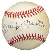 Mickey Mantle Yankees Signed Official American League Baseball UDA UDY16722