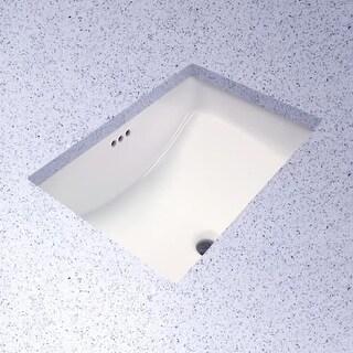 "ProFlo PF1812U Rectangular 19"" Undermount Bathroom Sink"
