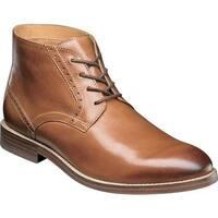 Nunn Bush Men's Middleton Plain Toe Chukka Boot Cognac Leather