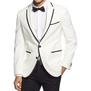 Kenneth Cole New York Mens Tuxedo Jacket Contrast Trim Slim Fit