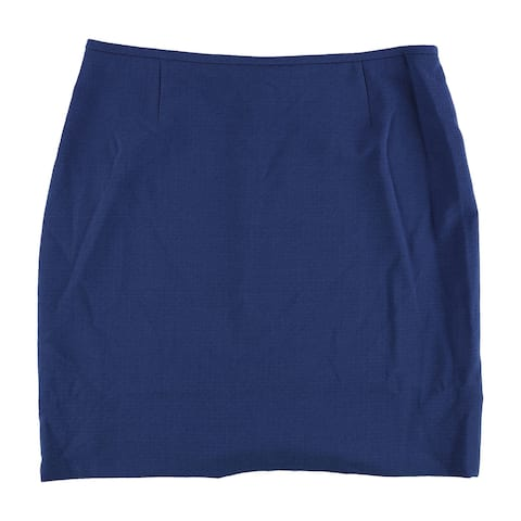 Tahari Womens Crepe Pencil Skirt, blue, 14P