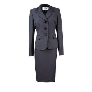 Le Suit Women's 3-Button Pocket Skirt Suit - 6
