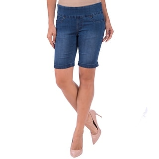 Lola Jeans Mya-MB, Mid Rise Pull On Bermuda With 4-Way Stretch
