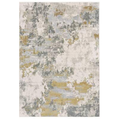 Vanhorn Metallic Abstract Rug, Golden Glow/Ivory, 6ft-7in x 9ft-6in - 6' x 7'
