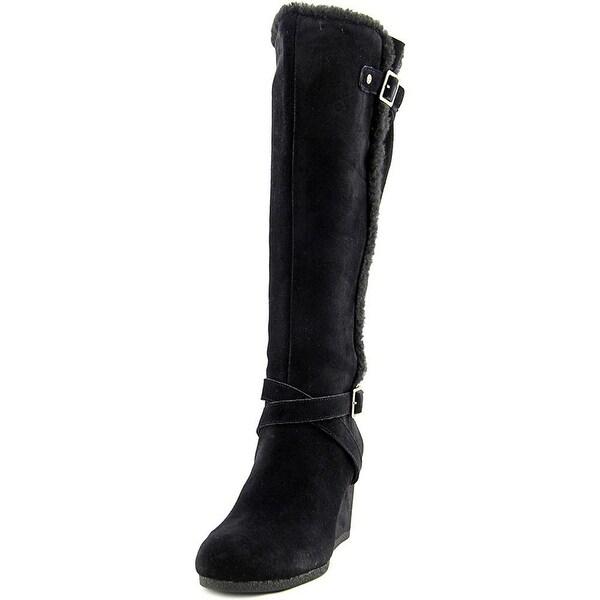 Giani Bernini Womens Pippie Leather Almond Toe Knee High Fashion Boots