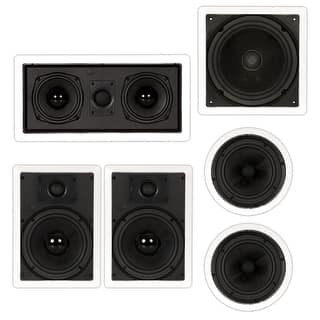 """Theater Solutions TSST85 In Wall and In Ceiling 8"""" Speakers 1550W Home Theater 5.1 Deluxe Speaker System