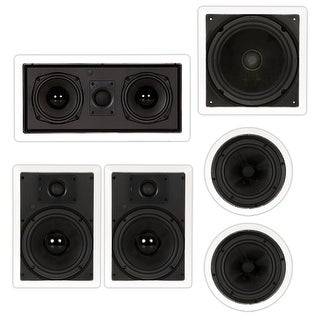 "Theater Solutions TSST85 In-Wall/Ceiling 1550W 8"" Home Theater 5.1 Speaker Set"