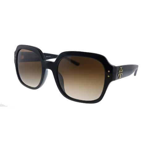 Tory Burch TY 7143U 170913 Womens Black Frame Brown Gradient Lens Sunglasses