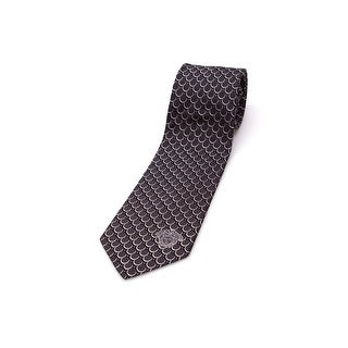 Versace Men Slim Silk Neck Tie CR8LSEB0716 0005 Black White