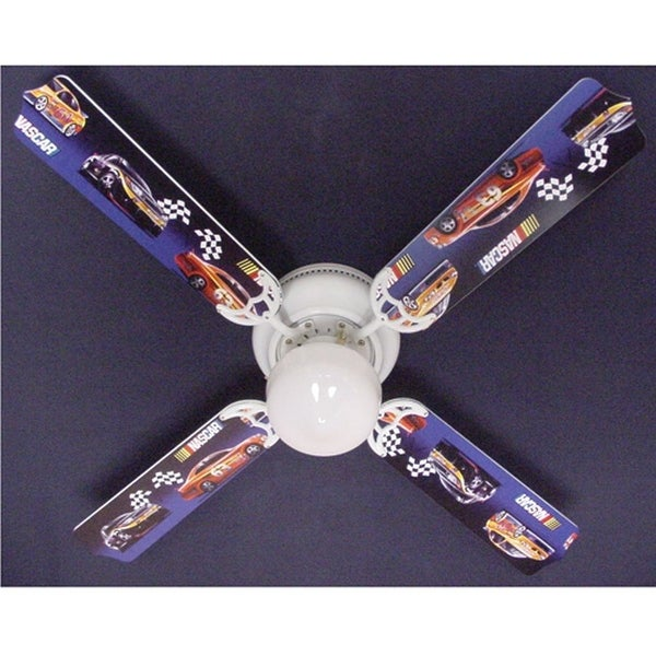 Shop nascar race car print blades 42in ceiling fan light kit multi nascar race car print blades 42in ceiling fan light kit multi aloadofball Choice Image