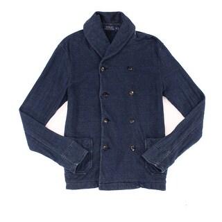 Polo Ralph Lauren NEW Indigo Blue Mens Size Small S Cardigan Sweater