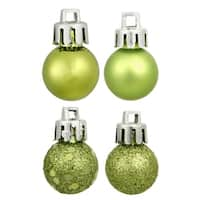 "18ct Kiwi Green Shatterproof 4-Finish Christmas Ball Ornaments 1.25"" (30mm)"