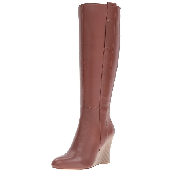 Nine West Womens orsella Leather Closed Toe Mid-Calf Fashion Boots