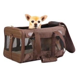 Sherpa Travel Original Deluxe Dog Carrier - Brown - Medium