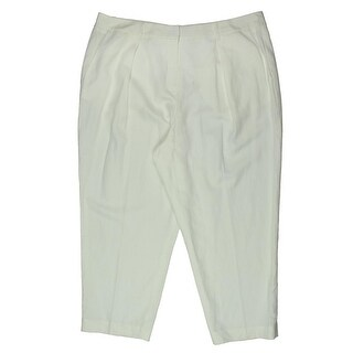 Anne Klein Womens Ziggy Capri Pants Woven Regular Fit