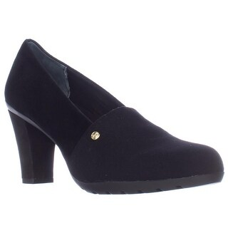 GB35 Daliss Almond Toe Loafer Pumps, Black (2 options available)