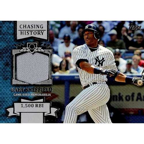 Signed Sheffield Gary New York Yankees Gary Sheffield 2013 Topps Chasing History Unsigned Baseball