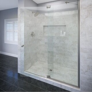 "Basco CANA-935-48CL Cantour 76"" High x 48"" Wide Pivot Frameless Shower Door with Clear Glass"