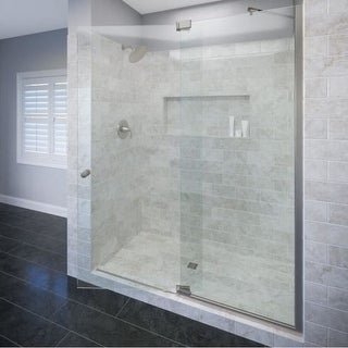 "Basco CANA-935-60CL Cantour 76"" High x 60"" Wide Pivot Frameless Shower Door with Clear Glass"