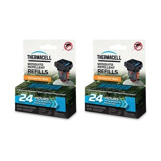 Thermacell Backpacker Mosquito Repeller Refill Mat (2-Pack) Backpacker Refill 24hr