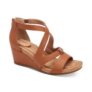 Giani Bernini Womens Camdenn Leather Open Toe Casual Platform Sandals