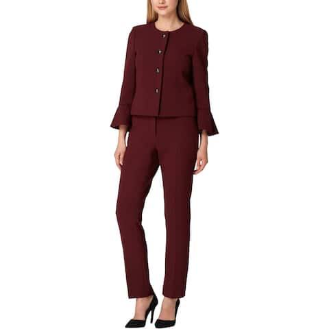 Tahari ASL Womens Petites Pant Suit Professional Office