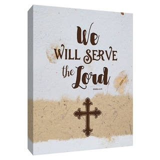 """PTM Images 9-148745  PTM Canvas Collection 10"""" x 8"""" - """"Serve the Lord"""" Giclee Sayings & Quotes Art Print on Canvas"""