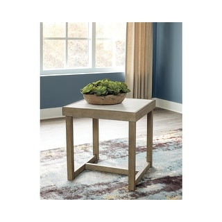 "Link to Challene Light Gray Square End Table - 24""W x 24""D x 24""H Similar Items in Living Room Furniture"