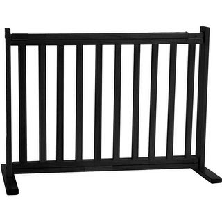 Dynamic Accents - 20 Inch All Wood Small Free Standing Gate - Black