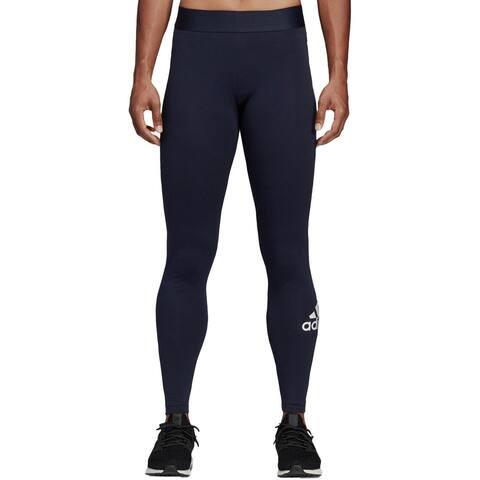 Adidas Womens Athletic Leggings Running Yoga - Leg Ink/White