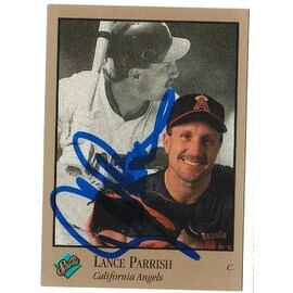 Lance Parrish Califronia Angels Autographed 1992 Studio Card