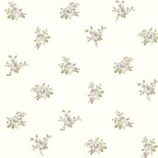 Brewster 344-68705 Petra Purple Roselle Toss Wallpaper