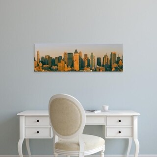 Easy Art Prints Panoramic Images's 'New York Skyline at Sunset, from Weehawken, New Jersey' Premium Canvas Art