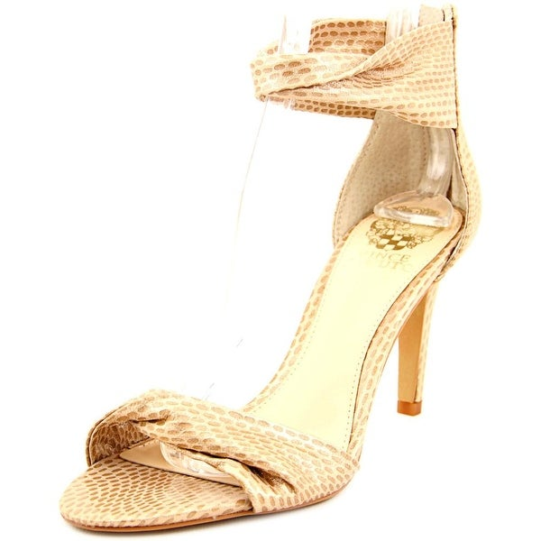 Vince Camuto Camden Women Open Toe Suede Tan Sandals