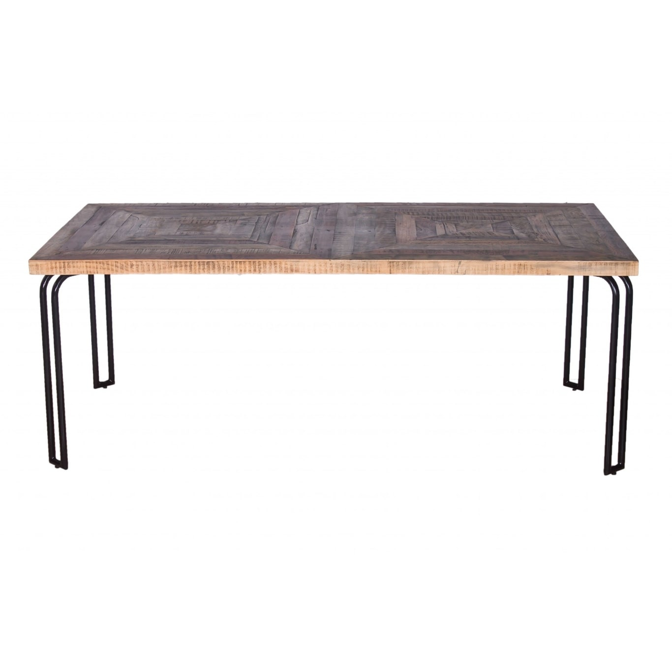 Homeroots 40 X 80 X 30 Natural Black 6 Wood 3 Iron Large Dining Table 30 X40 X80 30 X40 X80 On Sale Overstock 32230745